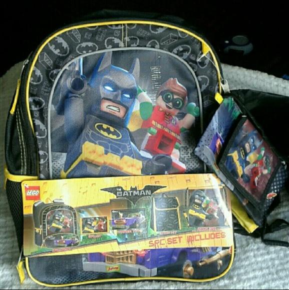 95ce409e9c56 Kids 5-Piece Lego Batman Backpack and Lunchbox Set